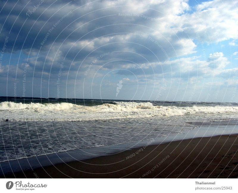 Sturm am Strand Wasser Meer Wolken Küste