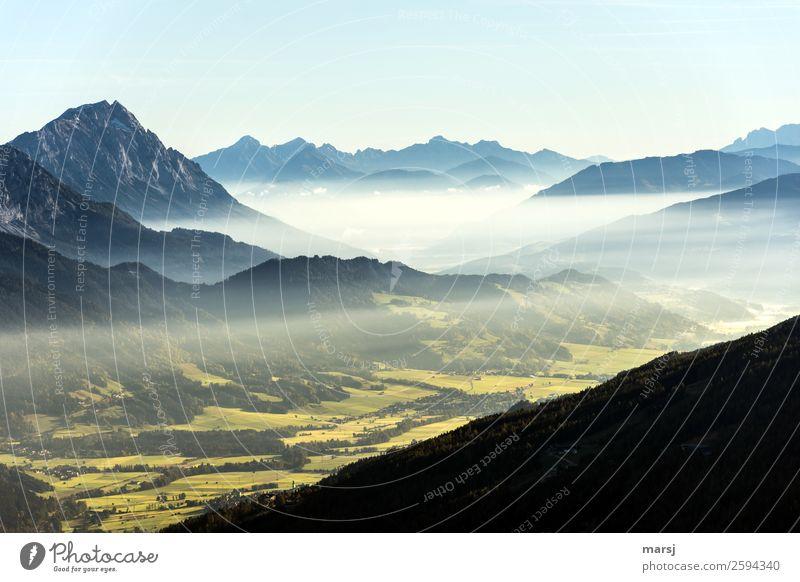Ein neuer Tag beginnt Ferien & Urlaub & Reisen Tourismus Ausflug Freiheit Berge u. Gebirge wandern Natur Landschaft Herbst Alpen Ennstaler Alpen Grimming