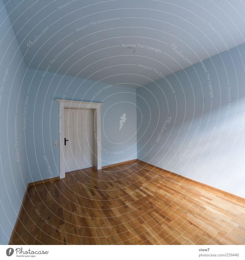 Kinderzimmer Häusliches Leben Wohnung Renovieren Umzug (Wohnungswechsel) einrichten Innenarchitektur Raum Holz Linie Streifen Einsamkeit Genauigkeit rein Ferne