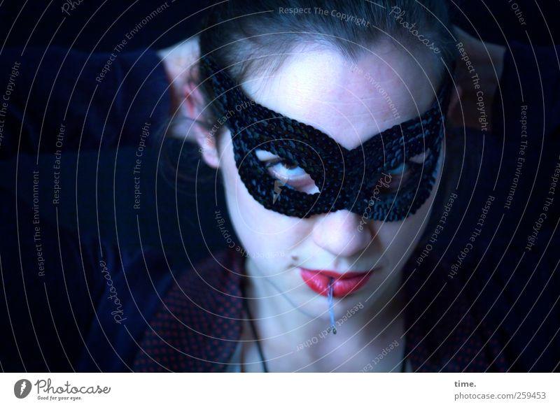 changes | versatile Mensch feminin Frau Erwachsene Haut Kopf Gesicht Auge Mund Lippen 1 beobachten außergewöhnlich dunkel kalt verrückt Spitze bizarr
