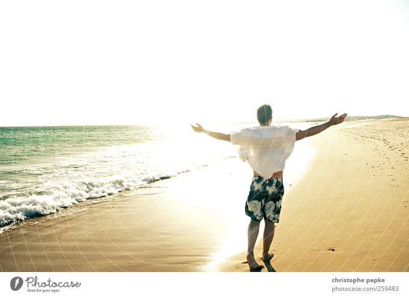 (300) Willkommen Zukunft Mensch Jugendliche Ferien & Urlaub & Reisen Sonne Sommer Meer Strand ruhig Erwachsene Erholung Leben Küste Zufriedenheit Wellen maskulin Tourismus