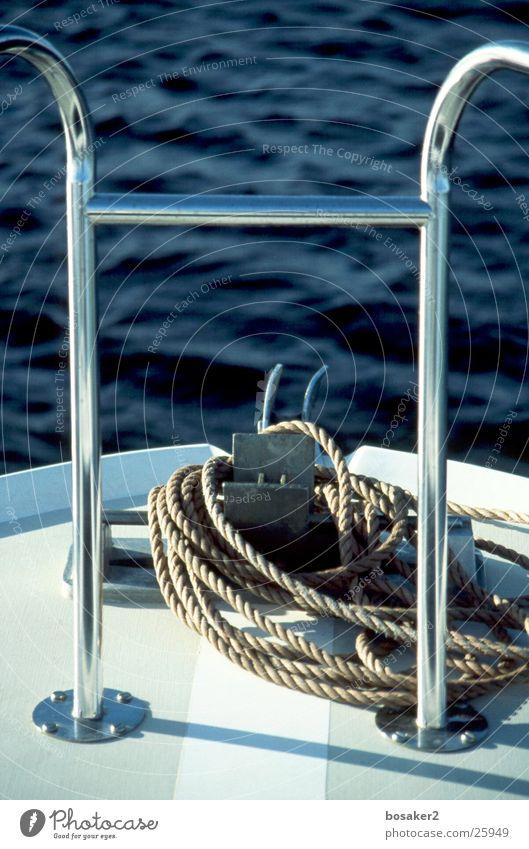 Crazy blue Wasser Meer blau ruhig See Wasserfahrzeug Seil