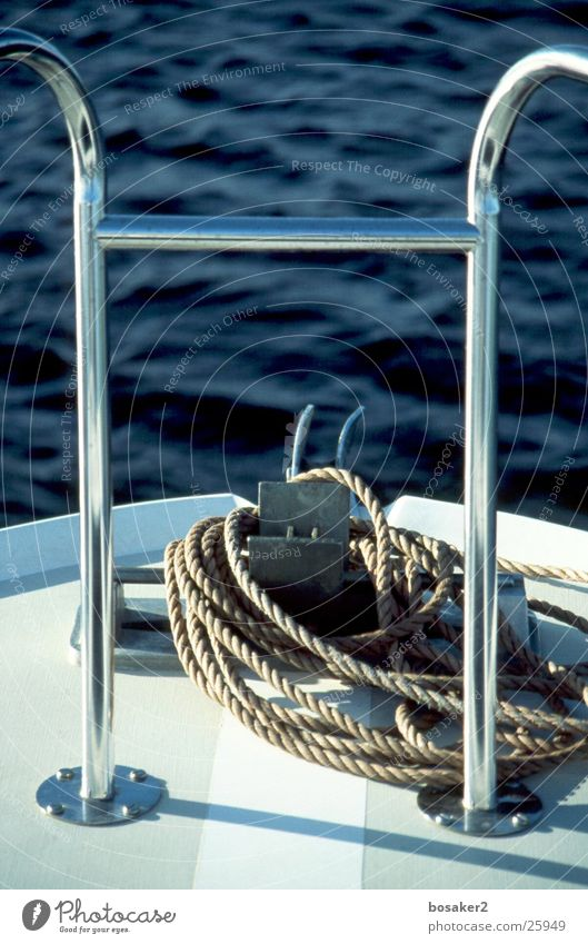 Crazy blue Wasserfahrzeug See Meer ruhig Seil blau