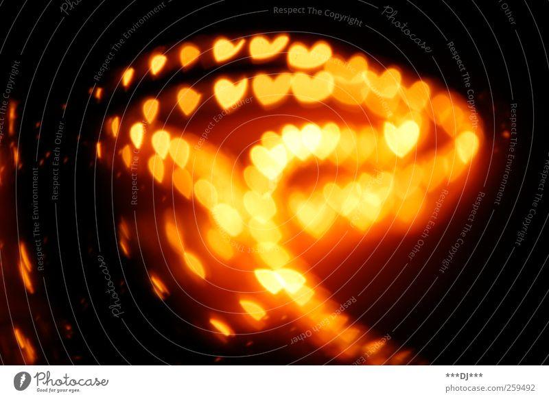 Verwirrtes Herz komm zurück ... berühren leuchten außergewöhnlich Unendlichkeit Wärme weich mehrfarbig gelb gold rot schwarz Gefühle Lebensfreude Vertrauen