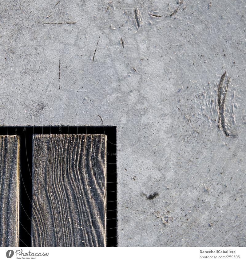 hölzernes Eck Architektur Beton Holz ästhetisch Design Kreativität Präzision Symmetrie Rechteck rechtwinklig Holzbrett Geometrie Strukturen & Formen Maserung