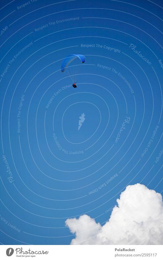 #A# Paragliding 1 Mensch ästhetisch Gleitschirmfliegen Freiheit Höhe Freizeit & Hobby Überflieger Erfolg Erfolgsaussicht blau Himmel hoch Extremsport Fallschirm