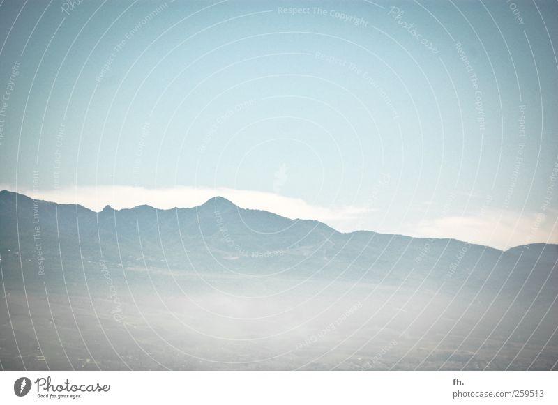 daydreamin' Himmel blau weiß ruhig Erholung Berge u. Gebirge Luft träumen hell Horizont Nebel Beginn frei außergewöhnlich Hoffnung Wunsch