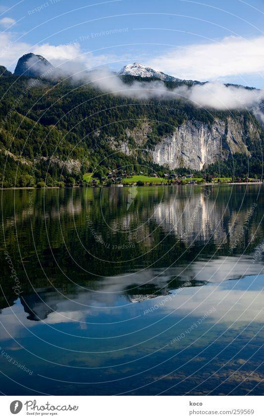 Sommerschnee Himmel Natur blau Wasser weiß grün schön Wolken Wald Herbst kalt Schnee Landschaft Berge u. Gebirge grau