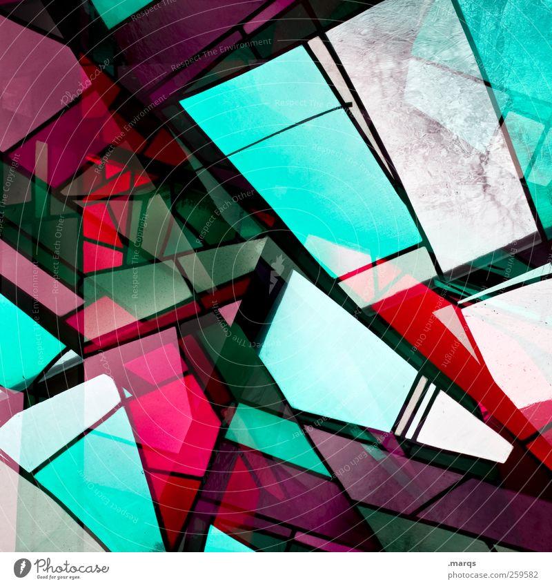 Fragment Lifestyle Stil Design Glas leuchten außergewöhnlich trendy einzigartig mehrfarbig chaotisch Farbe Perspektive Kirchenfenster Doppelbelichtung Mosaik