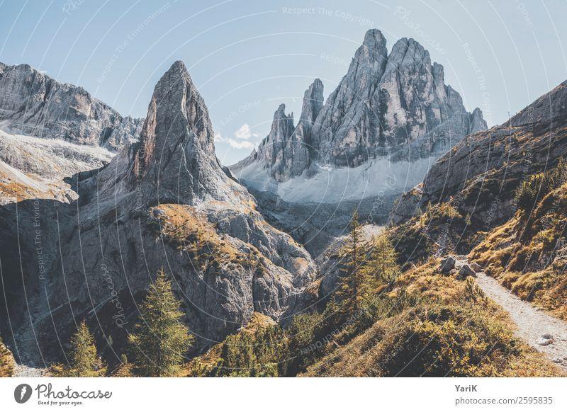 spitz Natur Landschaft Berge u. Gebirge Herbst kalt Wege & Pfade Stein oben wandern Erde Luft Kraft Italien Spitze Fußweg Gipfel