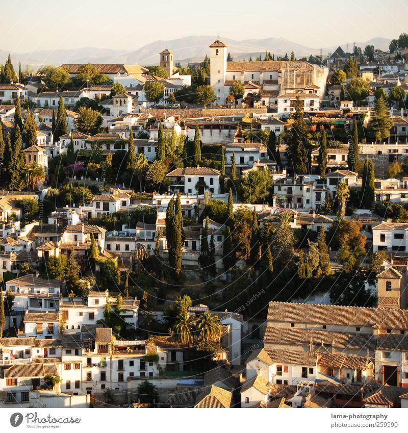 Albaicín [VIII] Ferien & Urlaub & Reisen Tourismus Ausflug Städtereise Sonnenlicht Hügel Granada Albaicin Andalusien Spanien Stadt Stadtzentrum Altstadt Haus