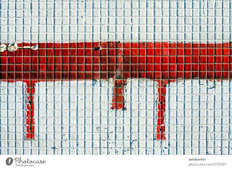 Mosaik Haus Baustelle Bauwerk Gebäude Architektur Mauer Wand Fassade Stein Linie Streifen Schnur historisch farbe flliesen Fliesen u. Kacheln Rest wallroth