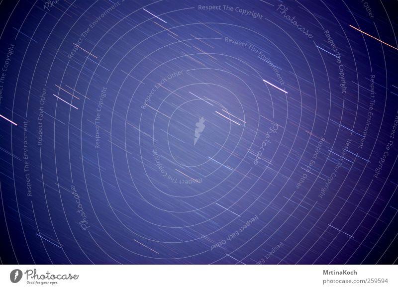 sterntaler. nur Himmel Wolkenloser Himmel Nachthimmel Stern Horizont Herbst Natur Farbfoto Außenaufnahme Luftaufnahme Experiment abstrakt Strukturen & Formen