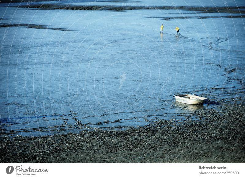 Watt'n Spaß Mensch Natur blau Wasser Ferien & Urlaub & Reisen Ferne Umwelt Landschaft Kindheit Klima Unendlichkeit Nordsee entdecken erleben rebellieren