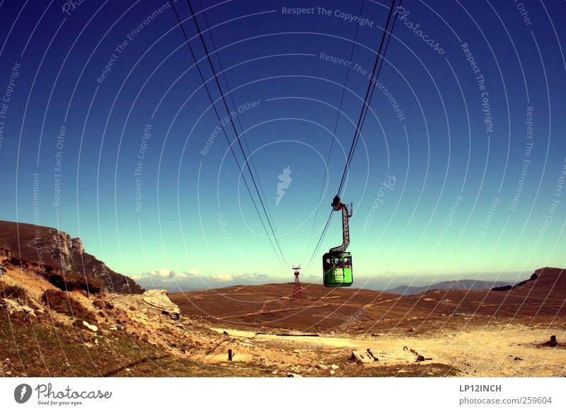 Karpaten Natur Landschaft Wolkenloser Himmel Sommer Schönes Wetter Berge u. Gebirge Rumänien Europa Sehenswürdigkeit Güterverkehr & Logistik Seilbahn