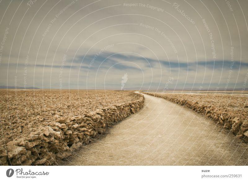 Salzweg Himmel Natur Ferien & Urlaub & Reisen Straße Umwelt Wege & Pfade Horizont Reisefotografie Ziel Wüste Salz unterwegs Chile Südamerika Salar de Atacama Salzwüste