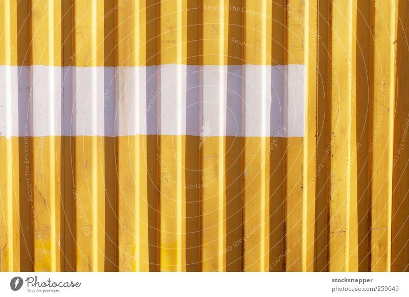 Weißer Streifen urban Grunge Ladung Container Nahaufnahme horizontal gemalt bemalt angemalt geteilt Linie Menschenleer Wellblechhütte Konsistenz Hintergrundbild
