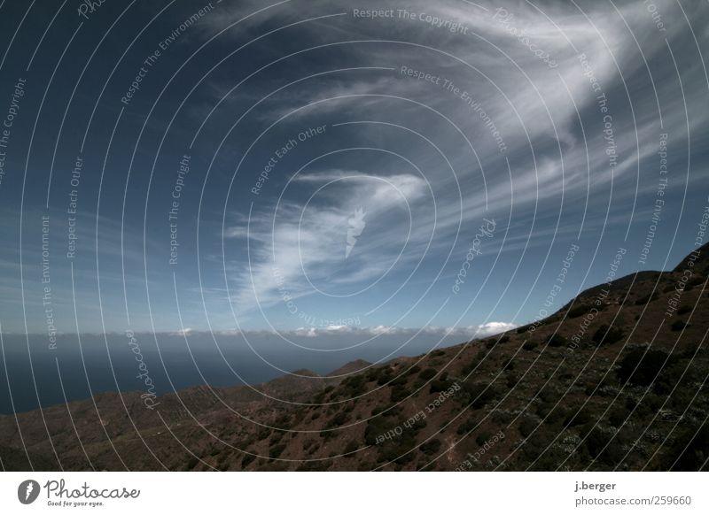 Jetstream Natur blau weiß grün Ferien & Urlaub & Reisen Sommer Wolken Ferne Landschaft Berge u. Gebirge Freiheit Küste Luft träumen Horizont braun