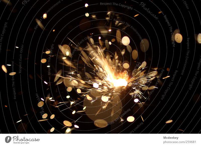 Funkenalarm (2) Wunderkerze authentisch bedrohlich fantastisch gigantisch heiß schön wild braun gelb grau schwarz weiß orange Strukturen & Formen hell explosiv