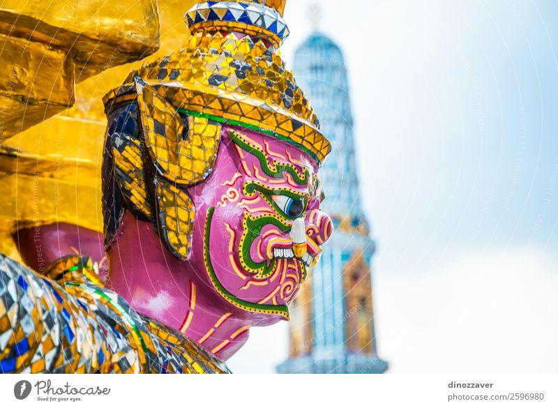 Ferien & Urlaub & Reisen blau Architektur Religion & Glaube Gebäude Kunst Dekoration & Verzierung gold Kultur Platz Symbole & Metaphern Tradition Asien Statue
