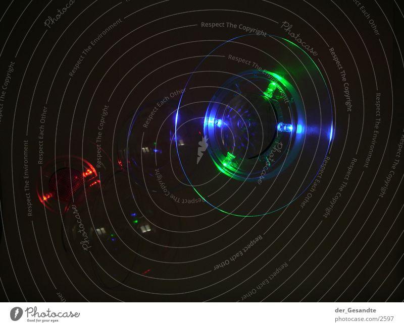 Lichtobjekt Dinge rund Laser Nacht Langzeitbelichtung Lampe Farbe
