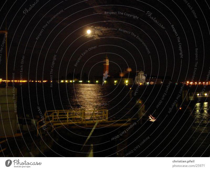 Vollmond-Baustelle in Venedig Himmel dunkel Gebäude hell Architektur Vergangenheit Mond historisch Örtlichkeit