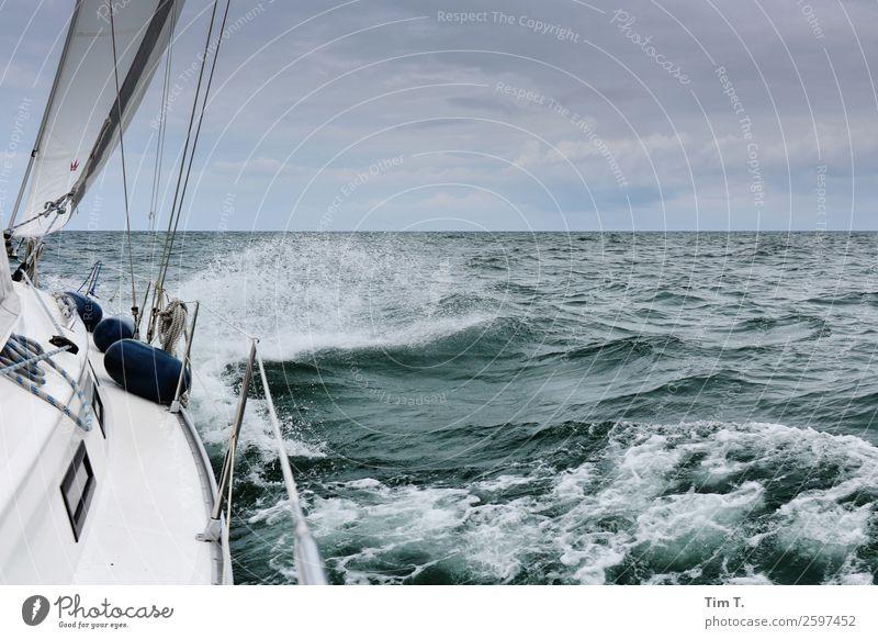 Segeln Sport Umwelt Natur Wasser Himmel Wellen Ostsee Meer Abenteuer Ferien & Urlaub & Reisen Zeit Zusammenhalt 2015 Segelschiff Farbfoto Außenaufnahme