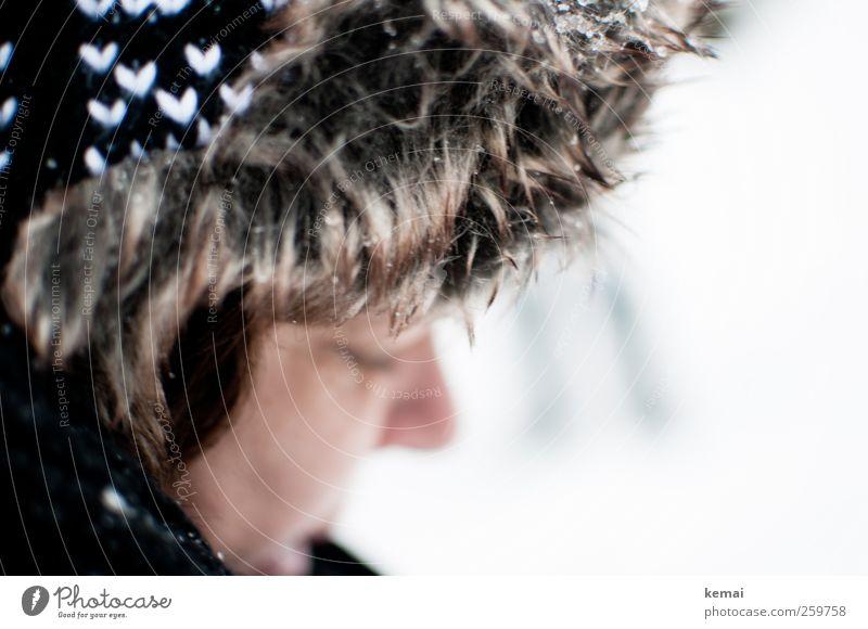 Baumloben | Pelzmütze Mensch feminin Frau Erwachsene Leben Gesicht Nase 1 30-45 Jahre Winter Eis Frost Schnee Mode Bekleidung Accessoire Mütze Pelzkragen