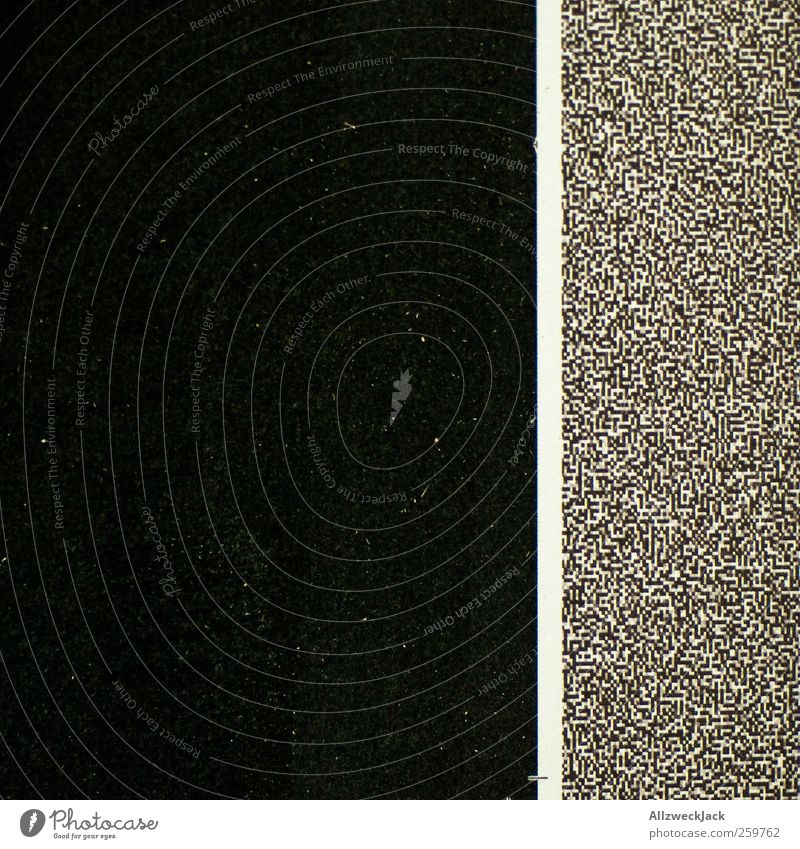 Ameisenkrieg an der Grenze weiß schwarz dunkel Linie ästhetisch Streifen einfach chaotisch Handel eckig komplex Druckerzeugnisse Bildpunkt Druckvorstufe