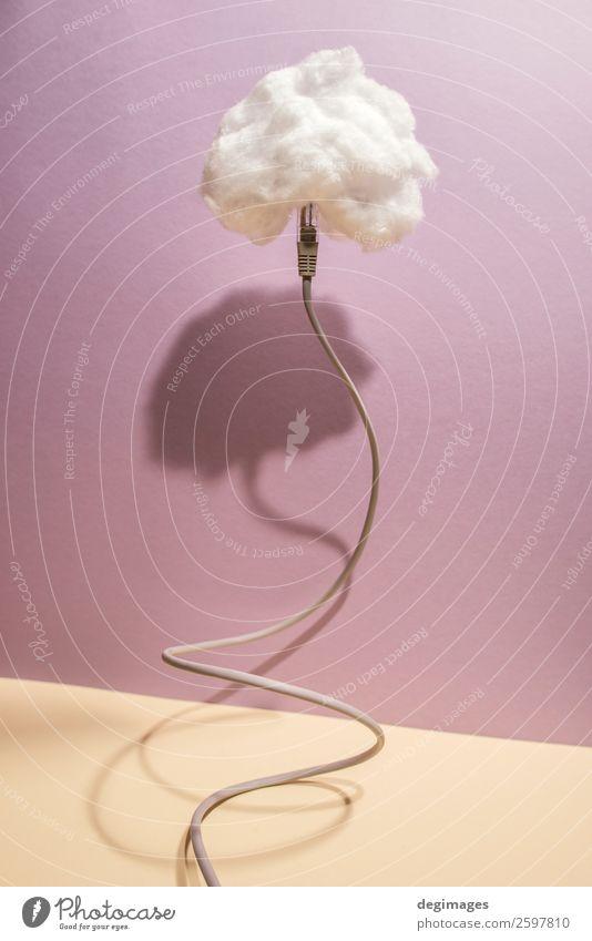 Himmel Wolken Architektur Business Textfreiraum Kommunizieren Technik & Technologie Papier Information Symbole & Metaphern Internet Medien digital online Lager