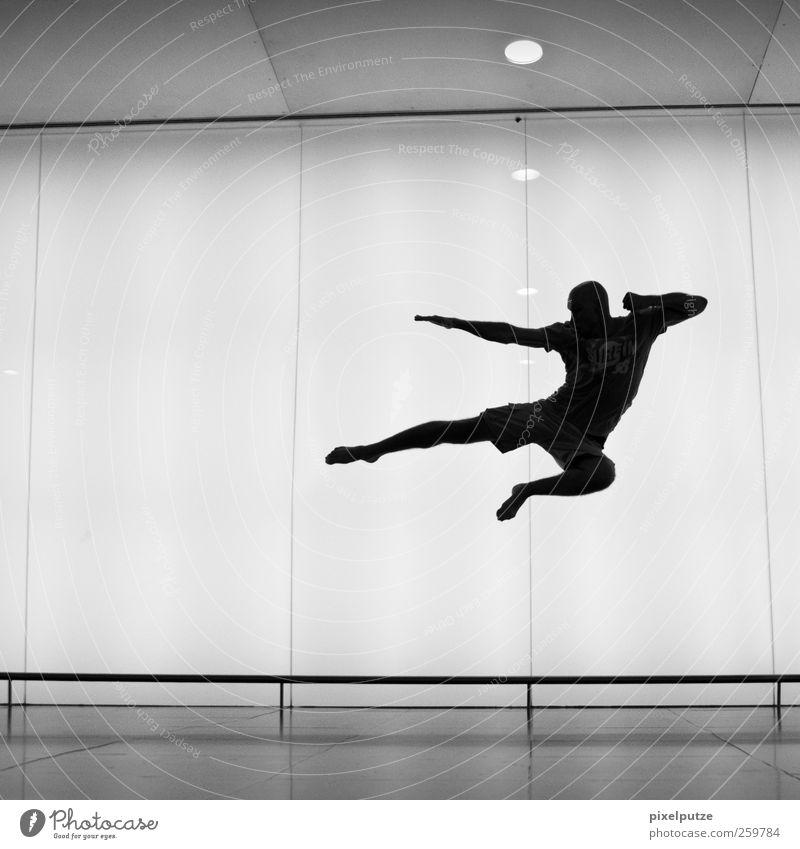 streetfighter Sport Kampfsport Sportler Erfolg maskulin Mann Erwachsene Jugendliche 1 Mensch 18-30 Jahre Fitness kämpfen springen Aggression Coolness Kraft
