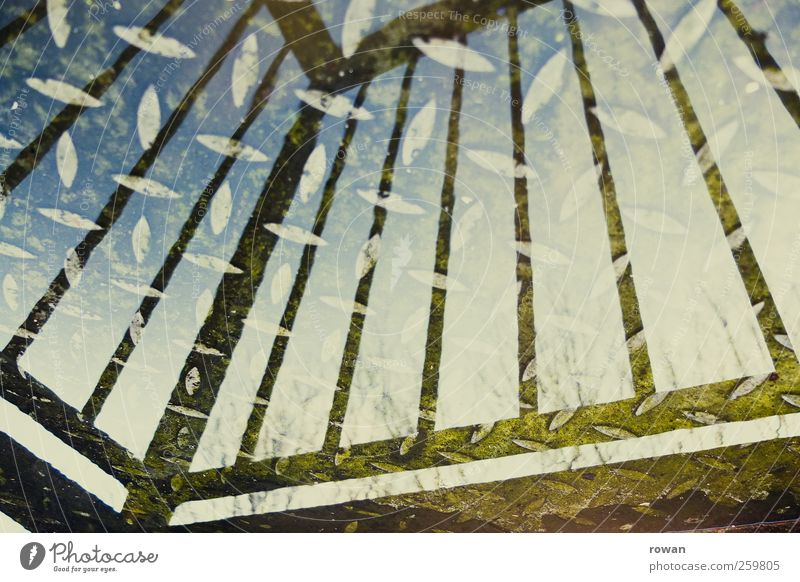 wasserbalkon blau Wasser Geländer Balkon Stahl Terrasse Glätte Einfamilienhaus