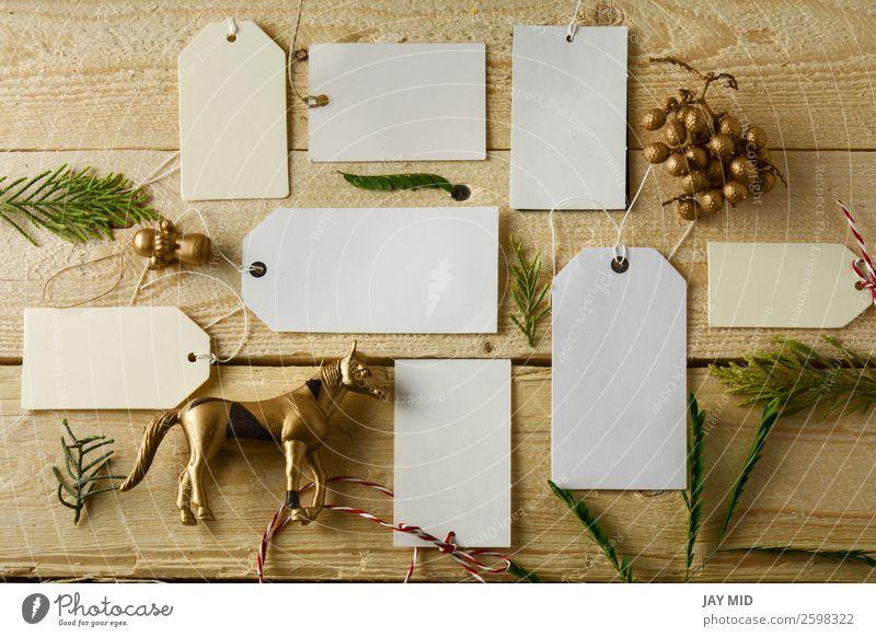 weiß Business braun Dekoration & Verzierung Geschenk kaufen Information Spitze festlich rustikal verkaufen Mitteilung blanko