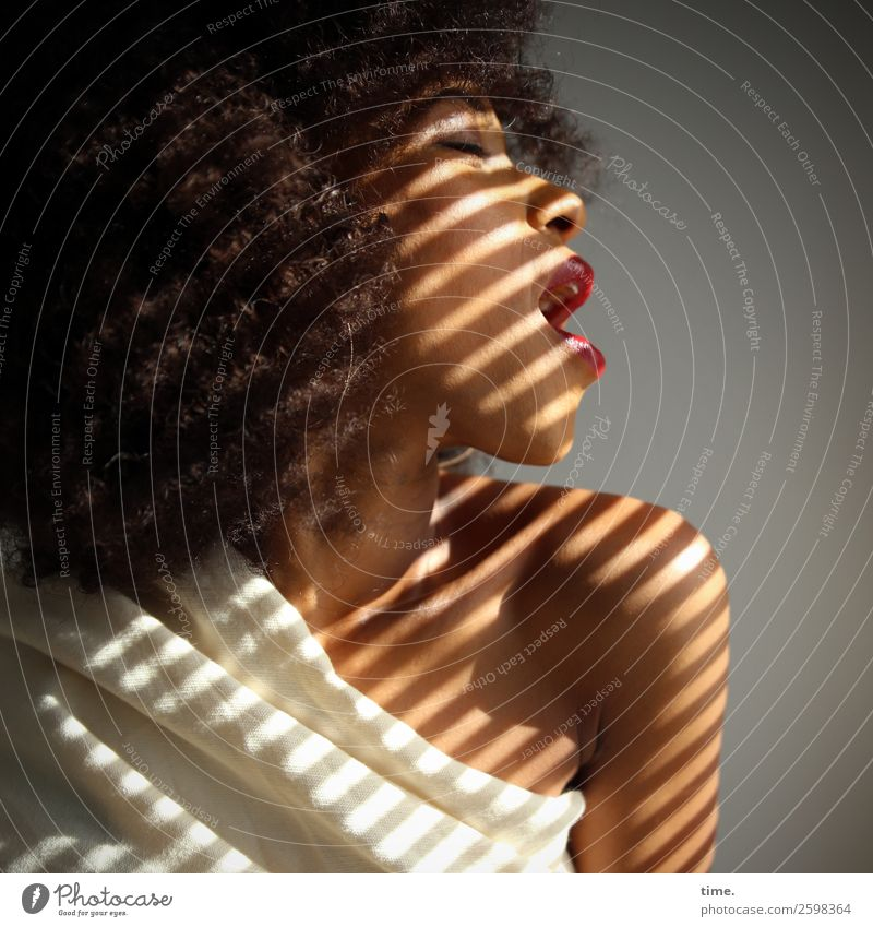 Emotion   Living for the Music Frau Mensch schön Erwachsene Leben feminin Bewegung Kunst träumen Kraft ästhetisch Lebensfreude Kreativität authentisch Stoff