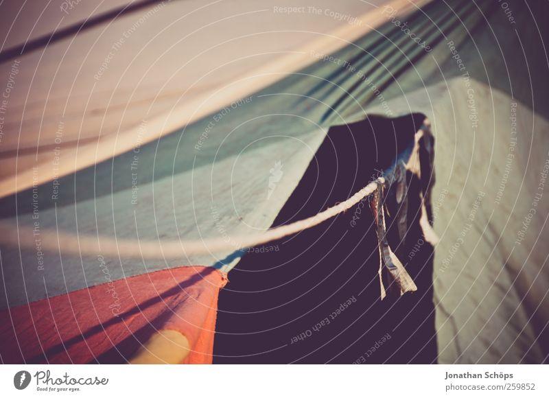 großes Loch im Zelt Lifestyle Stil Glück Ferien & Urlaub & Reisen Ausflug Abenteuer Ferne Freiheit Camping Sommerurlaub Umwelt Natur Schönes Wetter ästhetisch