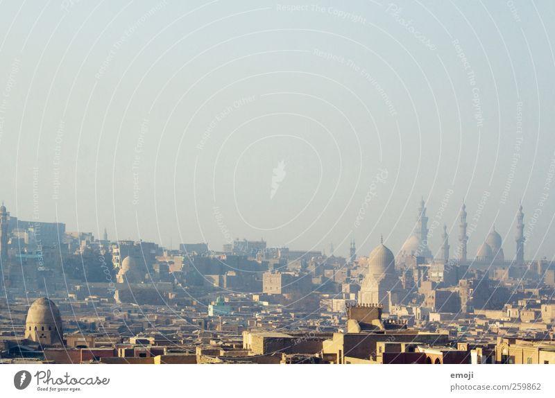 Kairo [Smog] Himmel Stadt Haus Turm Skyline Stadtzentrum Hauptstadt Wolkenloser Himmel Smog Moschee Kairo