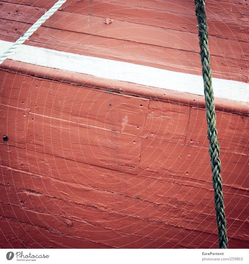 die weiße Planke Ostsee Schifffahrt Fischerboot Wasserfahrzeug Seil Holz rot Schiffsplanken Schiffsrumpf Quadrat Linie Norden Meer Anstrich Farbstoff abstrakt