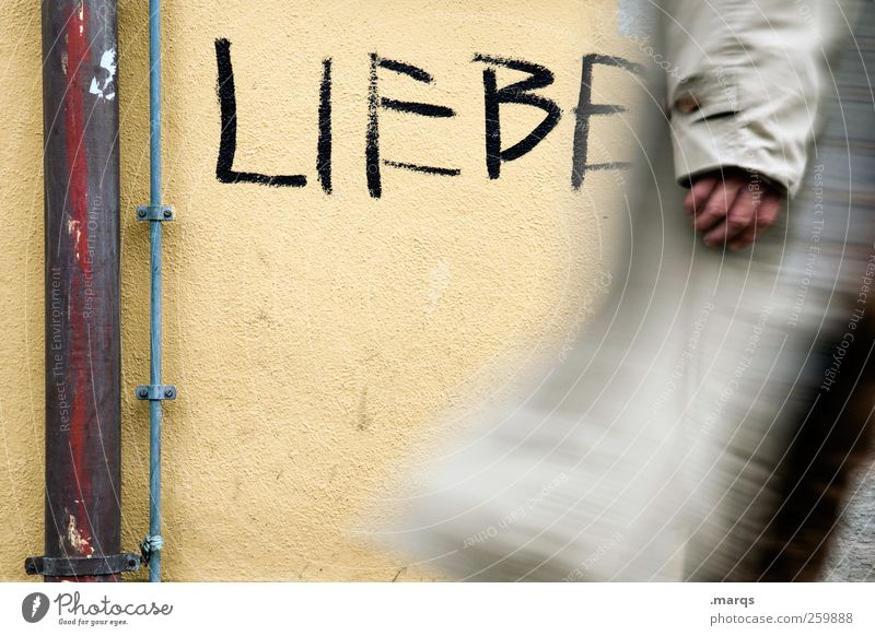 Nur die Liebe zählt Lifestyle Mensch Stadtzentrum Mauer Wand Zeichen Schriftzeichen Graffiti gehen loyal Menschlichkeit Solidarität Hilfsbereitschaft Eile