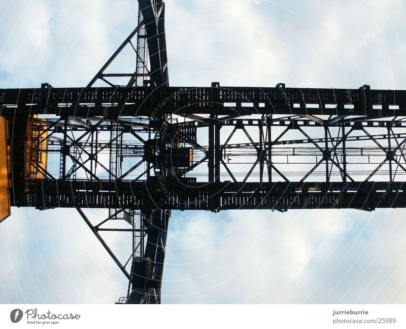 Krane gight industriell Brücke klopfen Sie Strukturen & Formen matte Aalrahmen