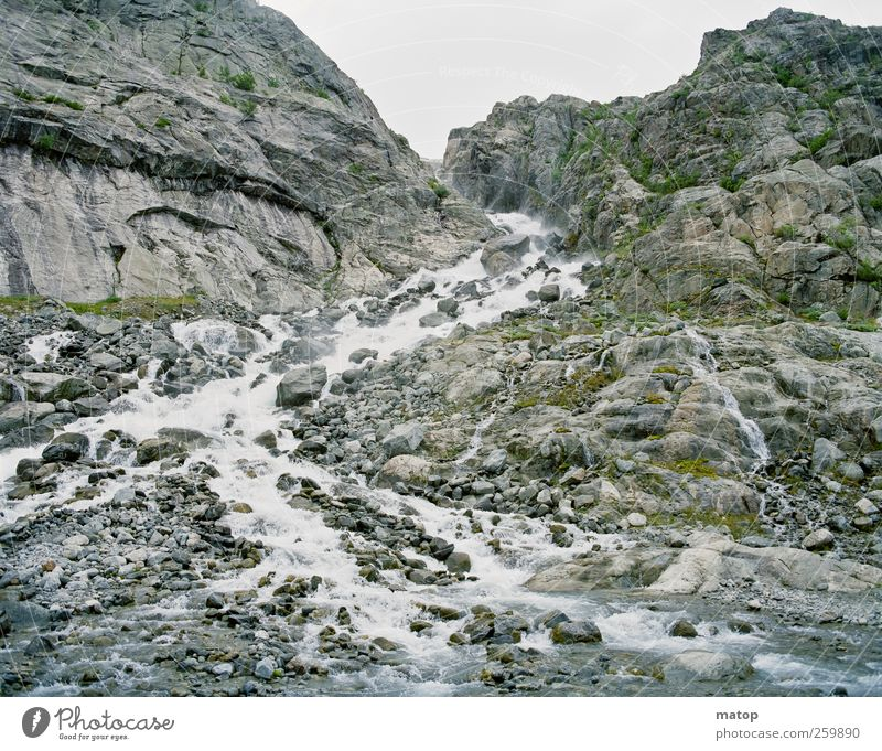 Schmelzwasser Ferien & Urlaub & Reisen Tourismus Berge u. Gebirge Natur Landschaft Urelemente Wasser Klimawandel Felsen Folgefonna Nationalpark Hardanger