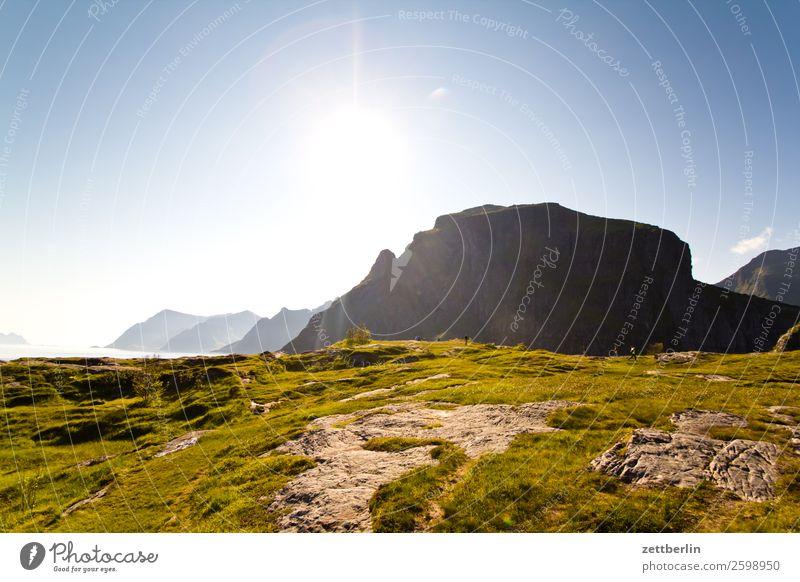 Litlandstabben und Andstabben Berge u. Gebirge Bergkette Polarmeer Europa Felsen Ferien & Urlaub & Reisen Fischereiwirtschaft Himmel Himmel (Jenseits) Horizont