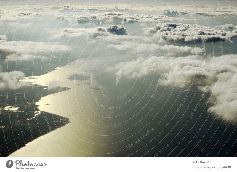 Gold Coast Himmel Ferien & Urlaub & Reisen Sonne Sommer Meer Wolken Ferne Freiheit Küste Horizont Wellen Abenteuer Flugzeug Tourismus Luftverkehr USA