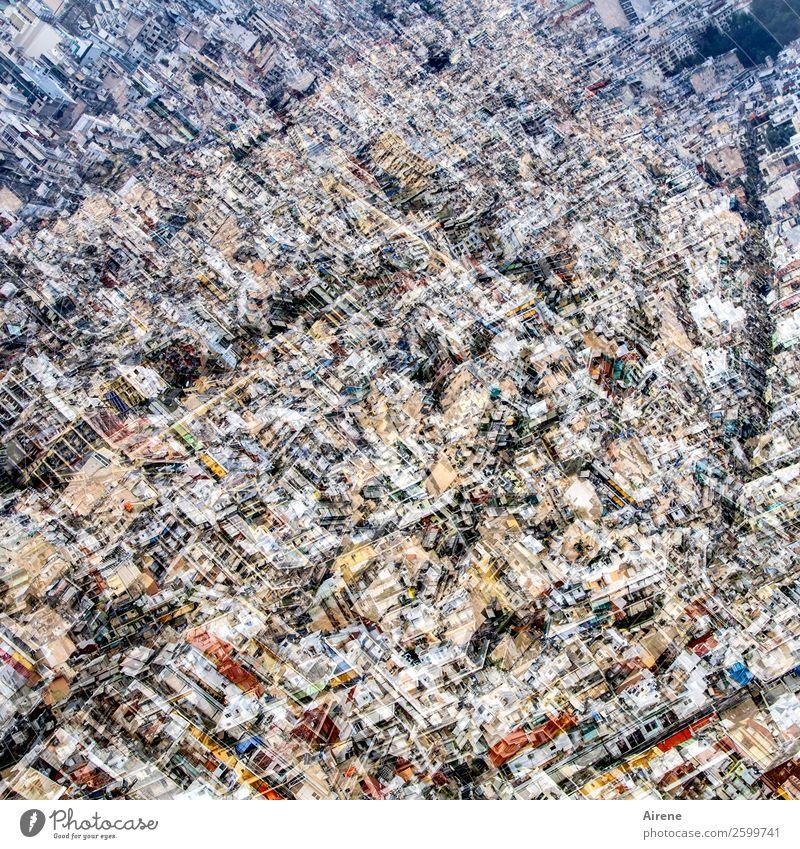 da geht's eng zu Athen Stadt Hauptstadt Stadtzentrum bevölkert Haus Häusliches Leben groß Unendlichkeit hell kuschlig viele Platzangst chaotisch wimmeln