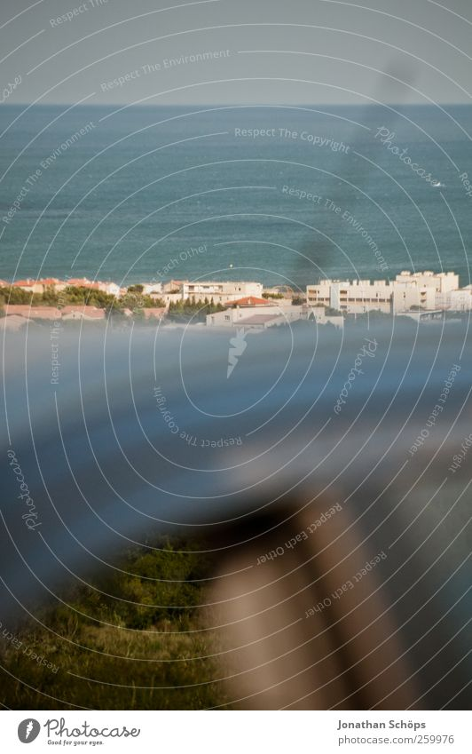 übers Dach ins Meer Ferien & Urlaub & Reisen Strand Erholung Umwelt Landschaft Freiheit Wärme Küste PKW Horizont Abenteuer Tourismus Reisefotografie