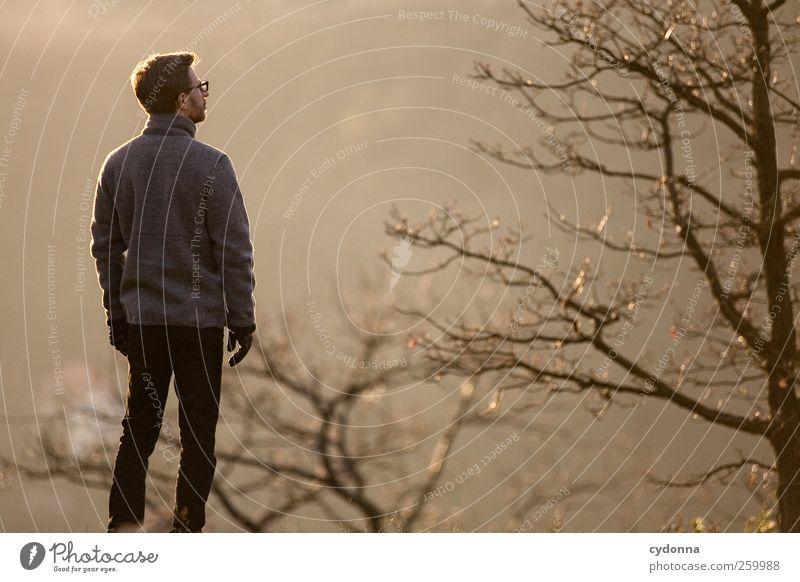 Kalte Sonne Lifestyle Leben Wohlgefühl Erholung ruhig Ausflug Abenteuer Ferne Freiheit wandern Mensch Junger Mann Jugendliche 18-30 Jahre Erwachsene Umwelt