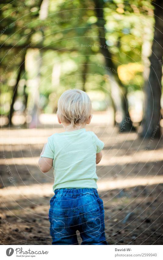 Ich erkunde die Welt elegant Gesundheit Leben Wohlgefühl Zufriedenheit ruhig Kindererziehung Mensch Baby Kleinkind Mädchen Junge Kindheit 1 Umwelt Natur Sonne