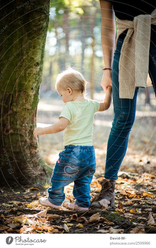 ich bin bei dir Kindererziehung Mensch feminin Kleinkind Mädchen Junge Frau Jugendliche Eltern Erwachsene Mutter Familie & Verwandtschaft Kindheit Leben Hand 2