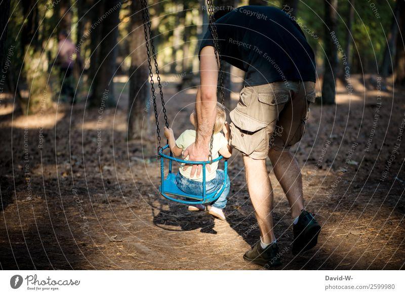 Karussell I Kind Mensch Natur Mann schön Freude Wald Mädchen Erwachsene Leben Herbst Liebe Glück Junge Spielen Zufriedenheit