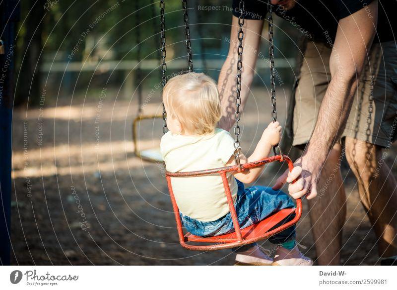 Karussell II Kind Mensch Natur Mann Freude Wald Mädchen Erwachsene Leben Liebe Familie & Verwandtschaft Glück Spielen Zufriedenheit elegant Kindheit