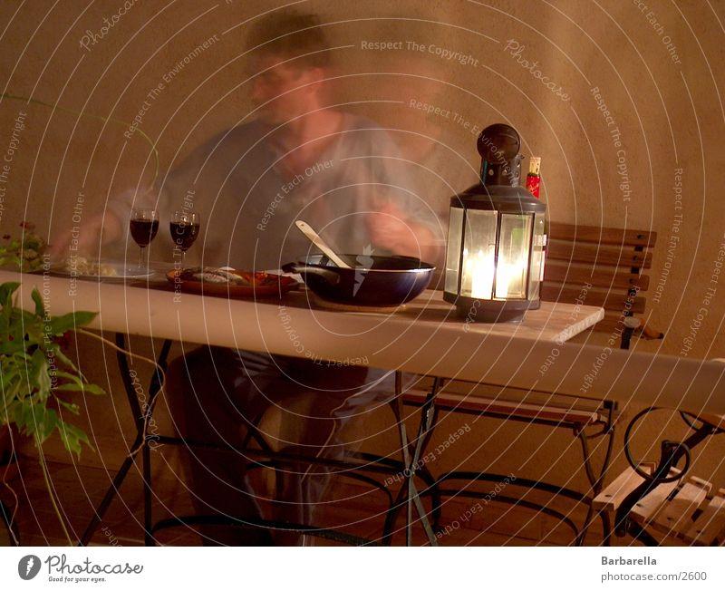 scharfe Weingläser Ernährung Bewegung durchsichtig Abendessen Kerzenschein Gedeck Weinglas Geschirr